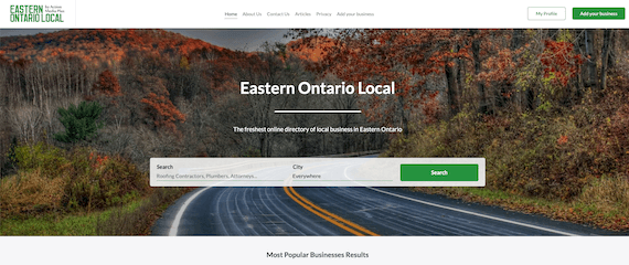 Eastern Ontario Local home page